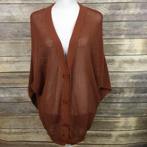 🌷SALE🌷Lush Rust Colored Cardigan Dolman Sleeves